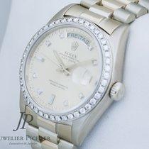 Rolex Day Date 18049 Weißgold org. Diamantbesatz B  & P LC...