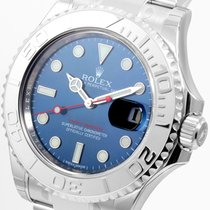Rolex Yachtmaster 40mm Steel and Platinum Blue Dial 116622 Unworn