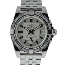 Breitling Galactic 36 Stainless Steel Diamond Bezel Silver...
