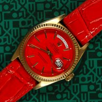 Rolex Day-Date 1803 yellow gold red dial 1968