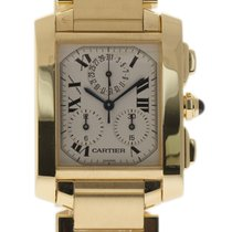Cartier Tank Francaise Chronoflex W50005R2 Large Yellow Gold...