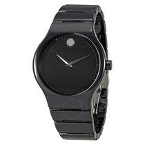 Movado Cerami Black Dial Men's Ceramic Watch