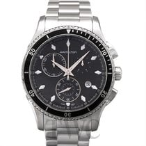 Hamilton Jazzmaster Seaview Chrono Quartz Black Steel 44mm -...