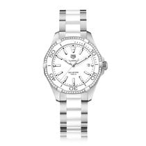 TAG Heuer Aquaracer Quartz Stainless Steel White Dial Ladies...