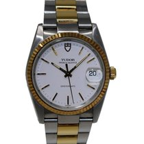 Tudor Prince Quartz Oysterdate Ref. 91533 gold/steel white dial