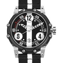 Genuine Brm Bt6-46 Auto Watch 2824-2 Movt. 100m Wr Black Pvd...
