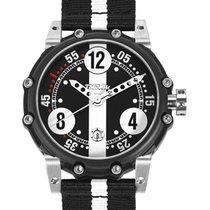 Genuine Brm Bt6-46 Auto Watch 2824-2 Movt. 100m Wr Black Pvd...