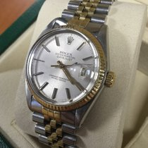 Rolex Oyster Datejust Jubilee Gold Steel Silver Dial 36 mm