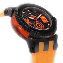 Lancaster Murano in den Farben Schwarz/Orange mit Silikonband