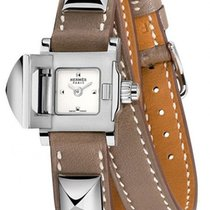 Hermès Medor Mini Silver Dial Ladies Double Wrap Watch