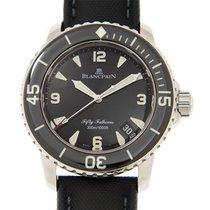 宝珀 (Blancpain) Fifty Fathoms Stainless Steel Black Automatic...