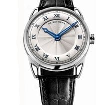 De Bethune DB25WS1 DB 25 44mm in White Gold - on Black...