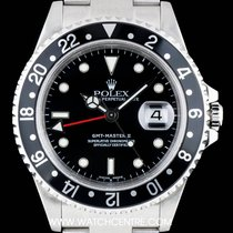 Rolex Stainless Steel Black Dial GMT-Master II Gents  16710