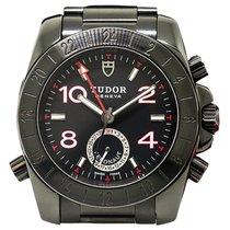Tudor 20200-Black-Steel-Bracelet Aeronaut GMT 40mm Automatic...