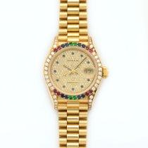 Rolex Datejust Rainbow Diamond & Sapphire Watch Ref. 69038