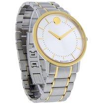 Movado TC Thin Classic Mens Two Tone Swiss Quartz Watch 0606689