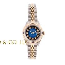 Rolex Ladies 2tone Datejust Blue Vignette Diamond Dial -...