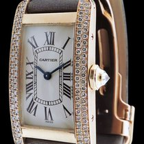 Cartier Tank Américaine PM en or rose 18k et diamants