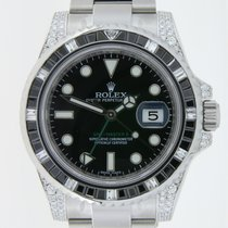 Rolex GMT-Master II Emeralds and  Diamonds Custommade