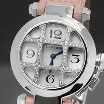 까르띠에 (Cartier) パシャ ドゥ カルティエ 32mm WJ11932G Pasha Diamond Grid...