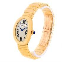 Cartier Baignoire 18k Yellow Gold Ladies Quartz Watch
