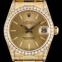 ロレックス (Rolex) 18k Y/G Champagne Dial Diamond Set Datejust...