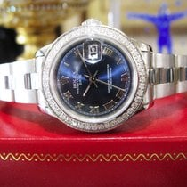 Rolex Oyster Perpetual Datejust Blue Roman Numeral Dial &...