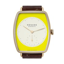 Nomos GLASHÜTTE Lux Zikade sapphire crystal back Mens Watch 941