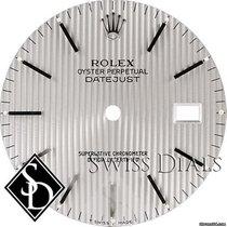 Rolex Datejust Silver Tapestry Stick Marker T Swiss Made T...