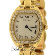 Cartier Tonneau 1910 Solid 18k Yellow Gold Ladies Watch With...