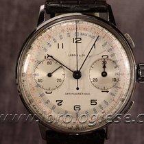 Lebois Vintage 1940`s Xl Steel Chronograph Cal. Valjoux 22