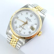 Rolex Datejust Herren Uhr Box Papiere Stahl/gold - 16233...