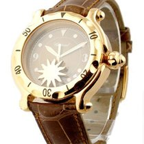 Chopard 28/3578 Happy Sport 37mm in Rose Gold - On Brown...