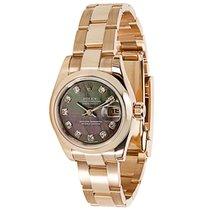 Rolex Datejust 179165 Women's Watch in 18K Rose Gold &...