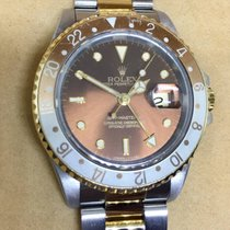 Rolex GMT-Master II Tiger Eye Gold Steel Oyster 16713