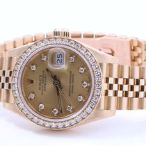 Rolex Ladies 18K Crown Collection President - Factory Diamond...