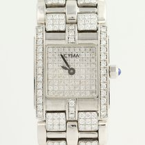 "Cyma Diamond Wristwatch 5 3/4"" - 18k White Gold Women's Quartz..."