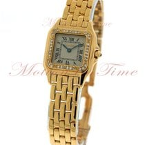 Cartier Panthere Small, Silver Dial, Diamond Bezel - Yellow...
