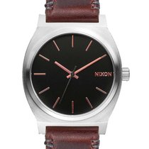 Nixon A045-2066 Time Teller Gray Rose Gold Brown 37mm 10ATM