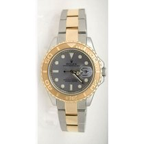 Rolex Yachtmaster 168623 Steel and Gold Mid-Size Slate Face