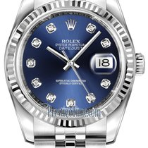 Rolex Datejust 36mm Stainless Steel 116234 Blue Diamond Jubilee
