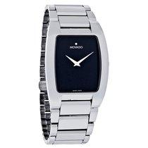 Movado Fiero Mens Platinum Tungsten Carbide Swiss Watch 0605621