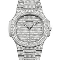 Patek Philippe 5719/1G-001 Nautilus 40mm White Gold Diamond...