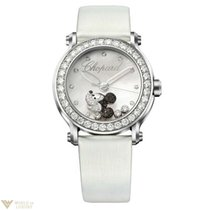 Chopard Happy Sport Diamond Mickey Mouse Stainless Steel &...