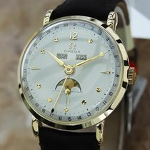 Omega Moonphase Triple Calendar 14k Solid Gold Swiss 1950s...