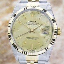 Rolex Datejust Quickset 16013 Men 1987 Swiss 18K Gold and...