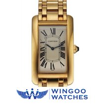 까르띠에 (Cartier) Tank Américaine 18k Yellow Gold Ref. 1735.1
