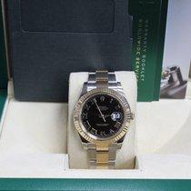 Rolex Datejust Ii 116333 41mm Black Roman Dial 18k Yellow Gold...