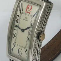Omega BANANA Art Deco 51mm by 39mm Sterling Hand Engraved C: