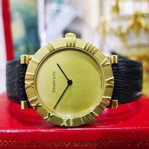 Tiffany & Co 18k Yellow Gold Atlas Roman Numeral Quartz...